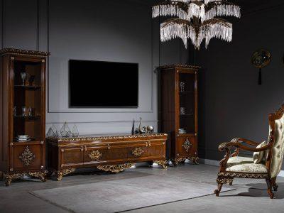 Klasik Çırağan Lüks Tv Ünitesi Kahverengi modelimiz Enbiya Alemdar'da