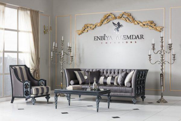 Modern Matisse koltuk takımı şık çizgi ve kumaş detayları ile evinizin yıldızı olmaya hazır, peki ya siz? Enbiya Alemdar'da sizi bekliyor.